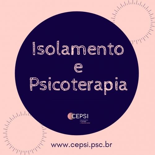 ISOLAMENTO E PSICOTERAPIA
